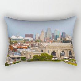 Union Station Kansas City Tilt Shift Color Photo Rectangular Pillow