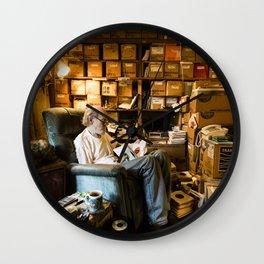 """Bob Mays and 7"""" records Wall Clock"""