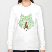red riding hood Long Sleeve T-shirts featuring Red Riding Hood by Stephane Lauzon