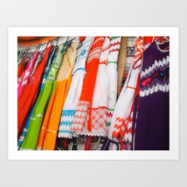 MEXICO CLOTHESLINE Art Print
