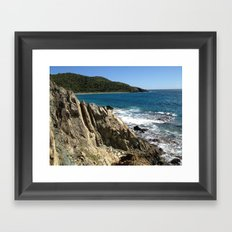 Rock Formation, St. John, East End, Virgin Islands, Caribbean Framed Art Print