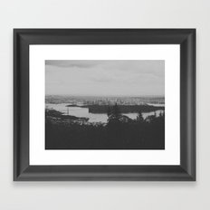 vancouver from cypress mountain. Framed Art Print