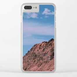 Valley of Fire Clear iPhone Case