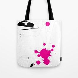 Magenta Abstract Rick Genest Tote Bag