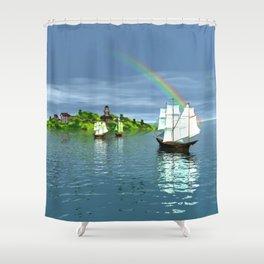 Reise zur Insel Shower Curtain