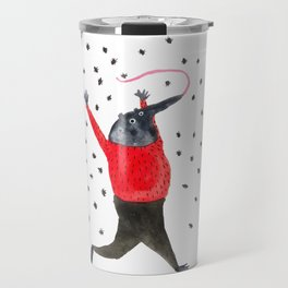 He Dreams of Ants Travel Mug