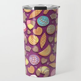Mexican Sweet Bakery Frenzy // pink background // pastel colors pan dulce Travel Mug