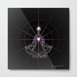 Aligning the mind with the Heart Metal Print