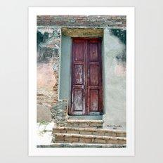 Cuban Door Art Print