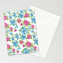 Blue Lilly Watercolor Stationery Cards