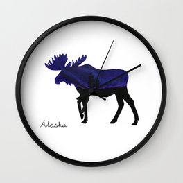Purple Moose  Wall Clock