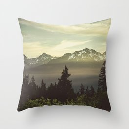 Morning in the Mountains Throw Pillow