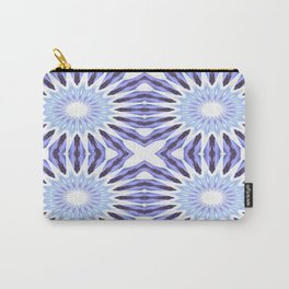 Periwinkle Lavender Pinwheel Flowers Carry-All Pouch