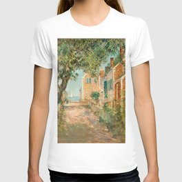Classical Masterpiece 'Provincetown, Cape Cod' by Frederick Childe Hassam T-shirt
