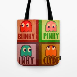 Inky, Pinky, Blinky and Clyde Tote Bag