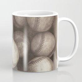 Bucket of Old Baseballs in Sepia Coffee Mug