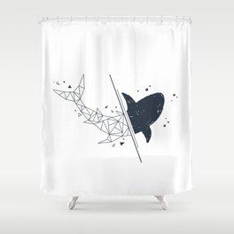 Shark. Geometric style Shower Curtain