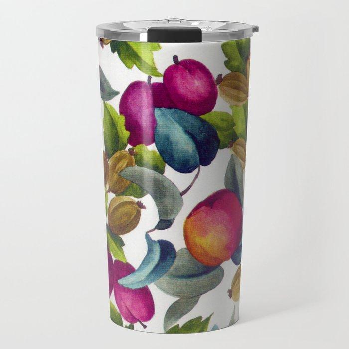 Watercolor Fruit Travel Mug