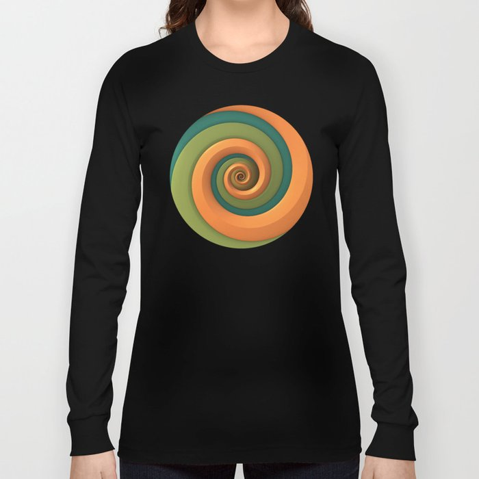 Tri-Color Swirl Long Sleeve T-shirt