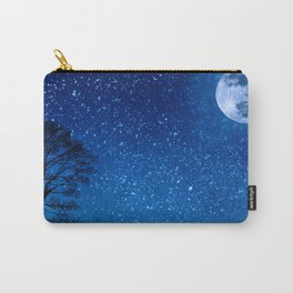 Wolf Howling at the Moon Before the Stars Carry-All Pouch