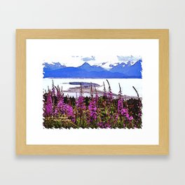 Spit and Fireweed Framed Art Print