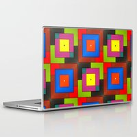 frames Laptop & iPad Skins featuring Colorful Frames by Sara Dowling