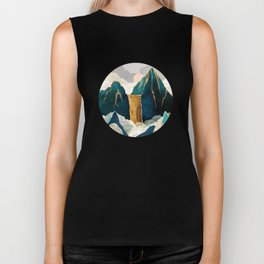 Golden Waterfall Biker Tank