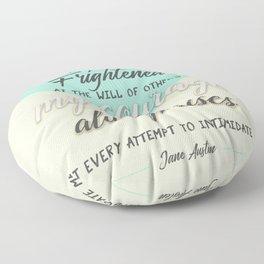 my courage rises Floor Pillow