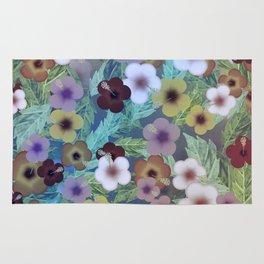 Hibiscus, The Moonlit Garden Rug
