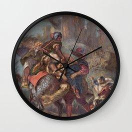 Eugne Delacroix - The Abduction of Rebecca Wall Clock