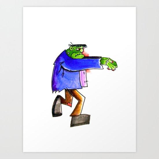 Frankenstein's A Monster Art Print
