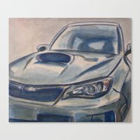 subaru Canvas Prints featuring Subaru Impreza by Craig Holland Illustration