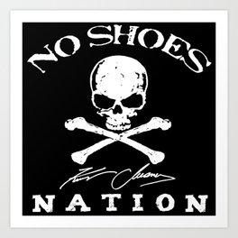 kenny no shoes nation chesney Art Print