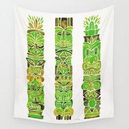 Tiki Totems – Green Wall Tapestry