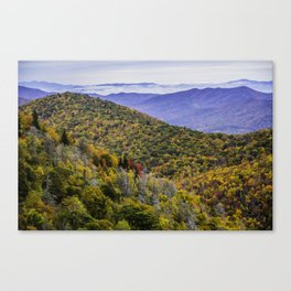 Mountain Fall Leaf Color Canvas Print