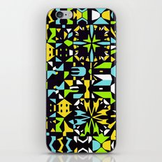 Square 3 color option 2  iPhone & iPod Skin