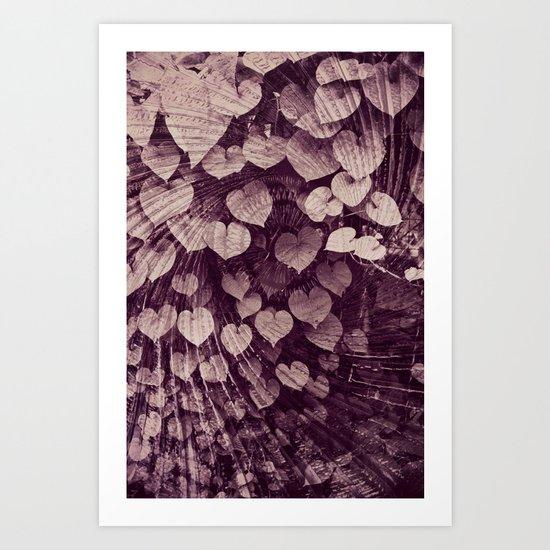 Leaves of Love Art Print