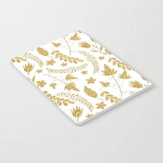Gold flowers Notebook