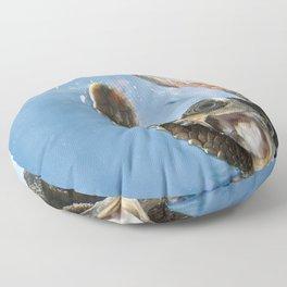Screaming Turtle Floor Pillow