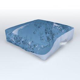 Winter Mountains in Glacier Blue - Alaska Outdoor Floor Cushion