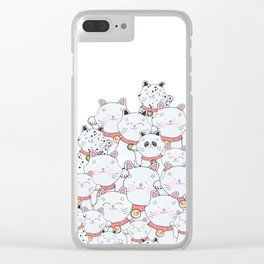 FIND THE PANDA - LUCKY CAT Clear iPhone Case