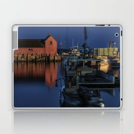 Moonlit Rockport Harbor Laptop & iPad Skin