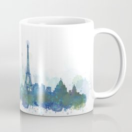 Paris City Skyline HQ Coffee Mug
