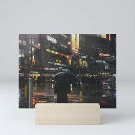 City Lights and Lonely Man in Toronto Street photography Mini Art Print