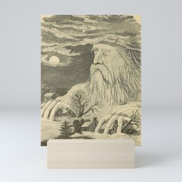 Old man in the mountain Mini Art Print