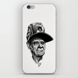elder man head iPhone Skin
