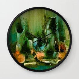 Abstract Oil painting Still Life Wall Clock