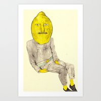 lemongrab Art Prints featuring Lemongrab by withapencilinhand