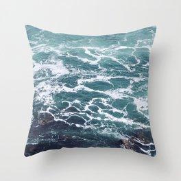 Ocean Photography   Sea   Blue Water   Seascape   Aqua Throw Pillow