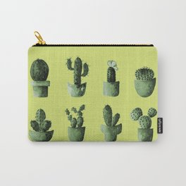 One cactus six cacti in green Carry-All Pouch